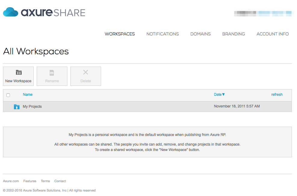 Managing Axure Share